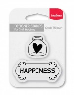 Set of stamps 7*7 cm Happiness