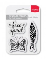 Set of clear stamps (7*7cm) - Free Spirit