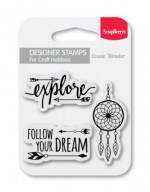 Set of clear stamps (7*7cm) - Follow Your Dreams