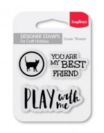 Set of clear stamps (7*7cm) - My Best Friend