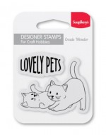 Set of clear stamps (7*7cm) - Lovely Pets