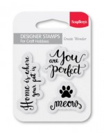 Set of clear stamps (7*7cm) - Meow