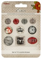 Crystal stickers decoration. Elegy Set of 10 crystal stickers