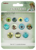 Crystal stickers decoration. Fairy Tale Set of 11 crystal stickers