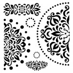 Stencil Napkin pattern 15,2*15,2cm thickness 0,15mm