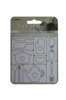 I Love Cooking 7.8x7.8 cmChipboard Elements No. 3