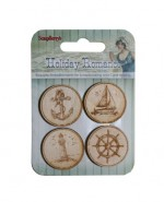 Holiday Romance-Wood-Chip Elements No. 1 (4 pieces per pack)